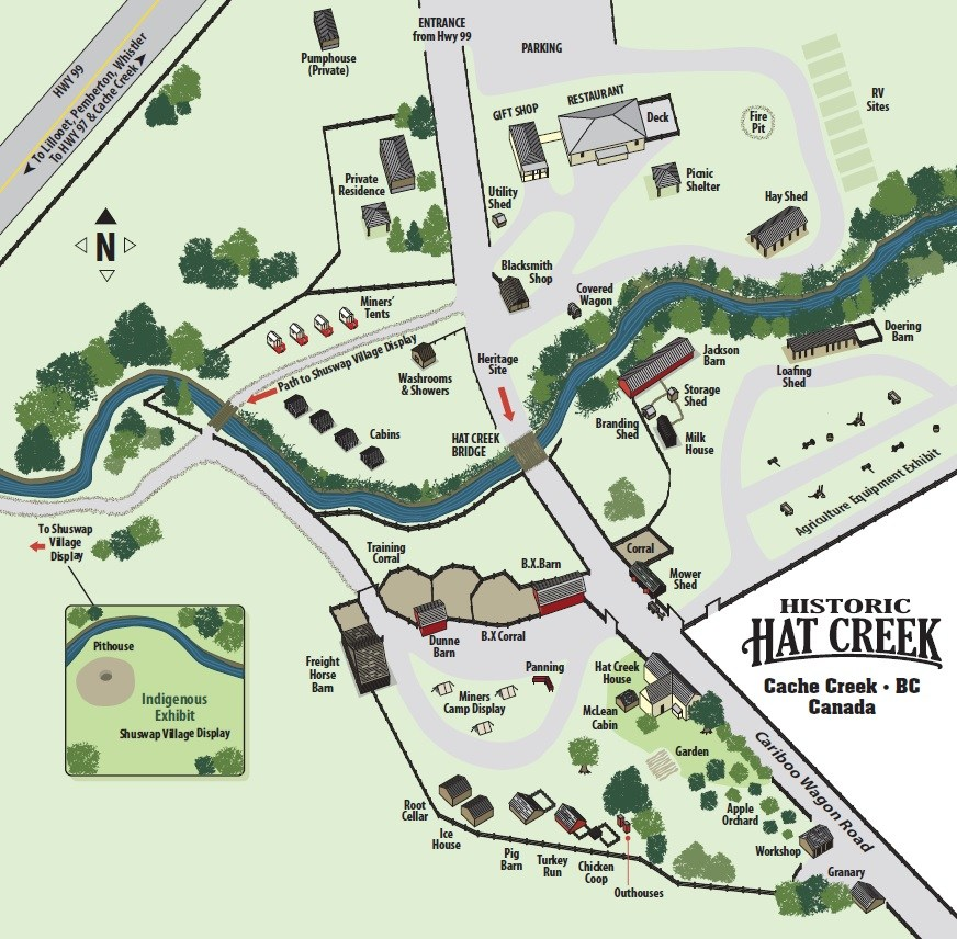 Explore camping, food, and heritage tours at the Historic Hat Creek Ranch